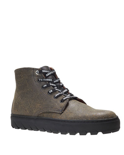 Men's x Vic Mensa 1000 Mile Mid Combat Sneakers, Burnout