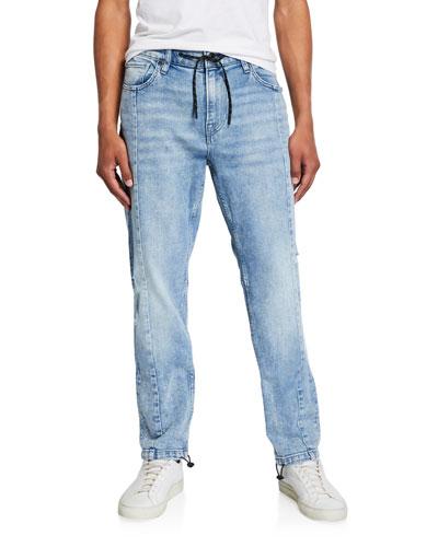 Men's Drawcord-Ankle Denim Pants