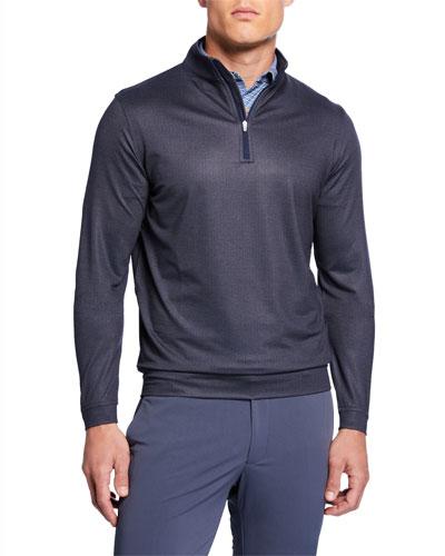 Men's Perth Terry-Cloth Quarter-Zip Sweater