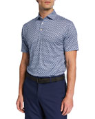 Peter Millar Men's Motorcycle-Print Polo Shirt