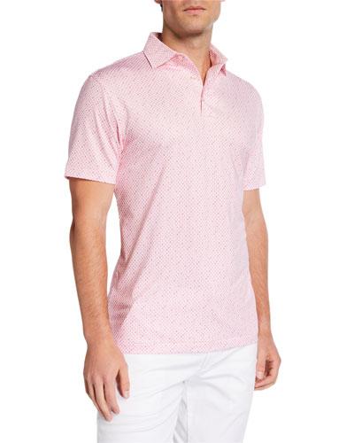 Men's Wine Glass Polo Shirt