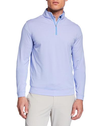 Men's Sugar Stripe Quarter-Zip Sweater