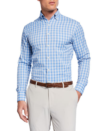 Men's Performance Check Sport Shirt with Pocket