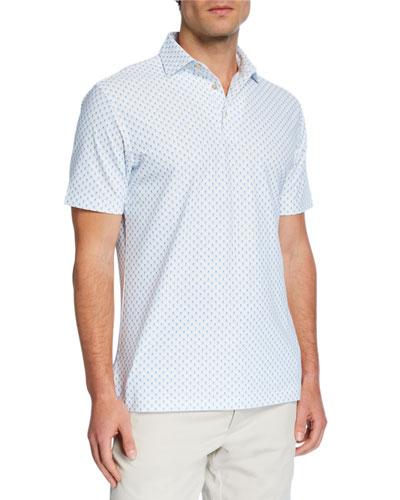 Men's Skull-Print Polo Shirt