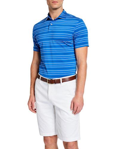 Men's Baker Tour Fit Striped Stretch-Jersey Polo Shirt