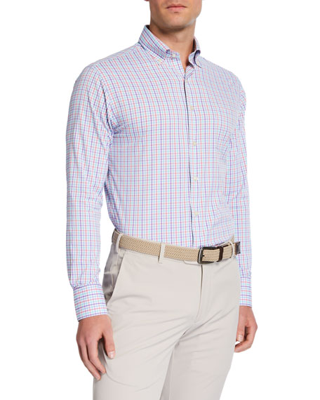 Peter Millar Men's Check Performance Sport Shirt