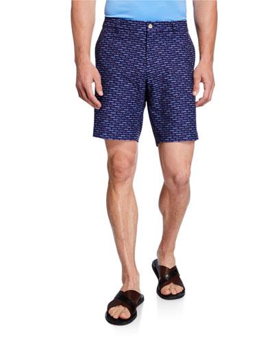 Men's Carrboro Car Motif Shorts