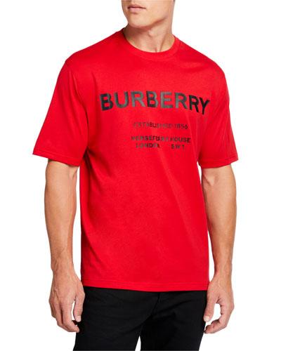 Men's Logo-Typography T-Shirt