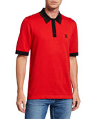 Burberry Men's Camford Polo Shirt, Bright Red
