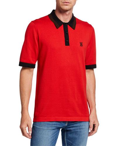 Men's Camford Polo Shirt, Bright Red