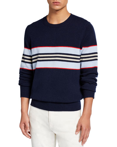 Men's Furlong Striped Cashmere Sweater