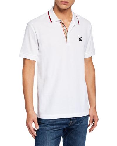 Men's Polo Shirt with Icon Stripe Placket