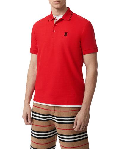 Men's Icon Stripe Placket Polo Shirt