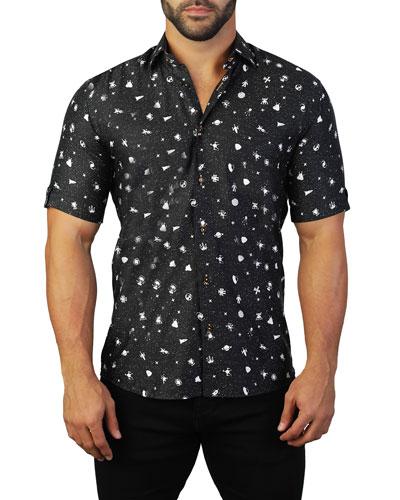 Men's Galileo Galaxy Short-Sleeve Sport Shirt
