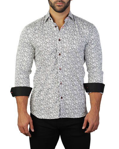 Men's Fibonacci House Graphic Sport Shirt