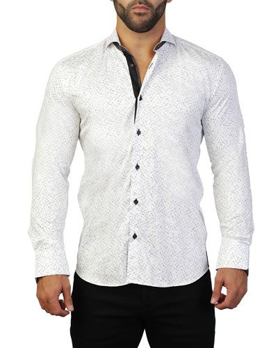 Men's Einstein Line Graphic Sport Shirt