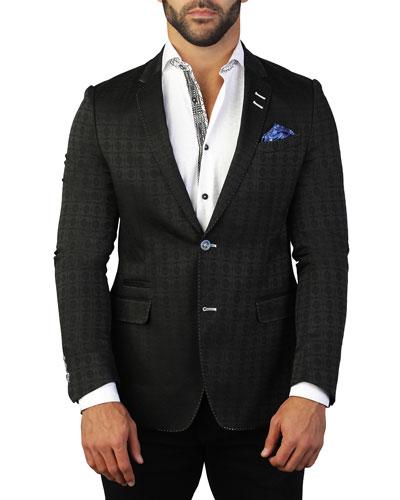 Men's Socrates Tile Two-Button Jacket