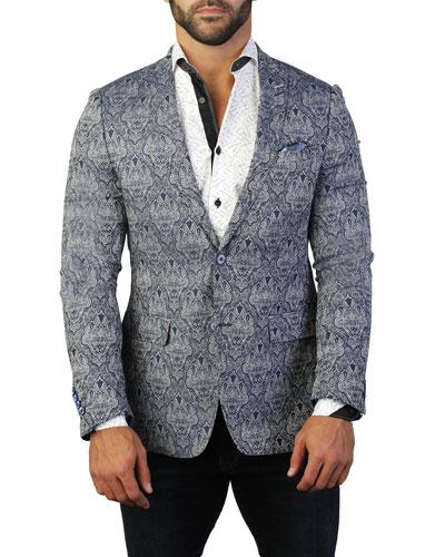 Men's Descartes Emblem Two-Button Jacket