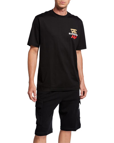Men's Gately Logo Graphic Cotton T-Shirt, Black