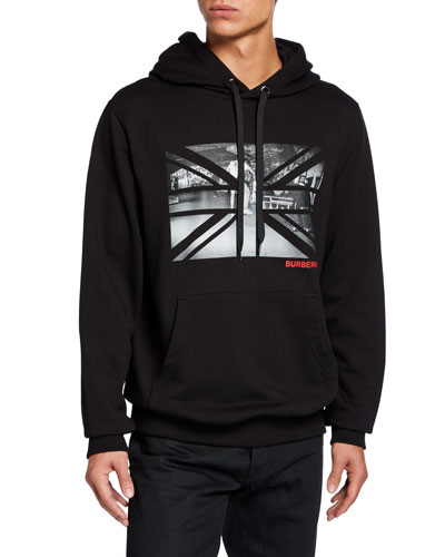 Men's Photo-Print Pullover Hoodie