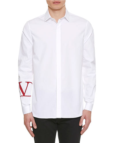 Men's V-Cuff Poplin Sport Shirt