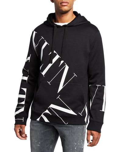 Men's VLTN Logo Hoodie Sweatshirt