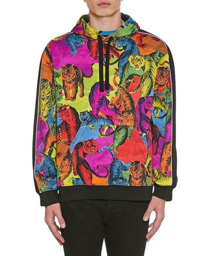 Men's Multi-Tiger Pullover Hoodie