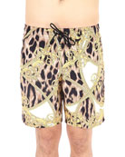 Versace Men's Mare Uomo Graphic Shorts