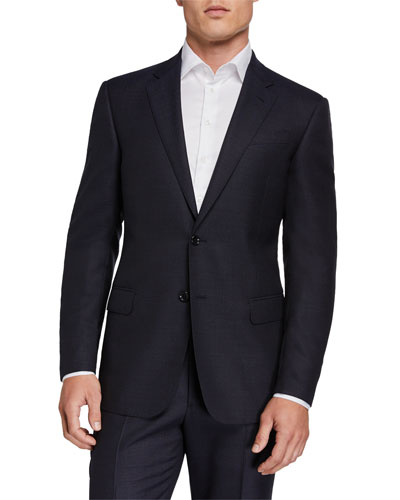 ba13be14911b Quick Look. Giorgio Armani · Two-Piece Virgin Wool Micro Neat Suit