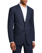 Giorgio Armani Men's Melange Plaid Two-Button Jacket