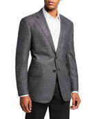 Giorgio Armani Men's Check Wool Two-Button Sport Coat