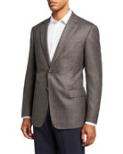 Giorgio Armani Men's Micro-Weave Two-Button Jacket