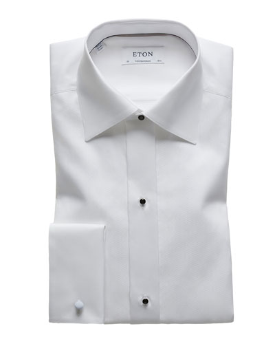 Men's Formal Textured Bib Dress Shirt
