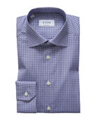 Eton Men's Circle Medallion-Print Dress Shirt