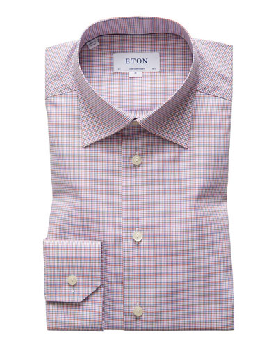 Men's Tattersall Check Dress Shirt