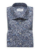 Eton Men's Floral Cotton Dress Shirt