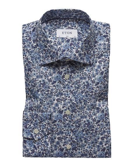 Eton Men's Slim-Fit Floral Cotton Dress Shirt