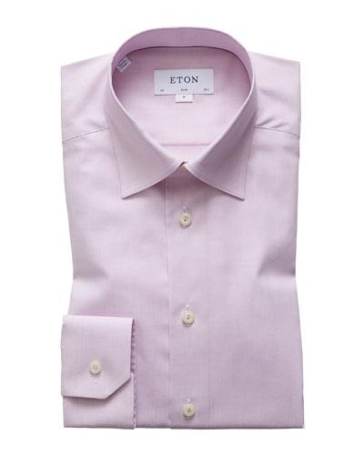 Men's Solid Twill Dress Shirt