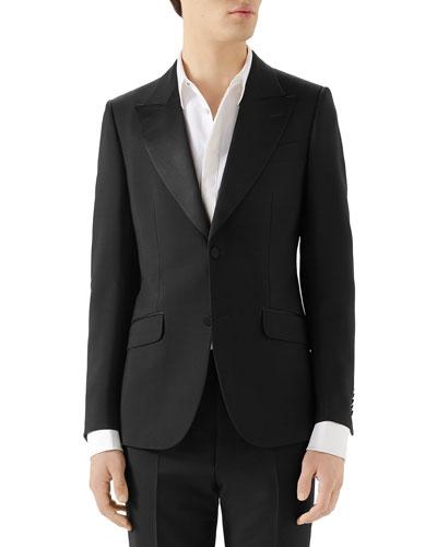 Men's Wool Mohair Tuxedo Jacket