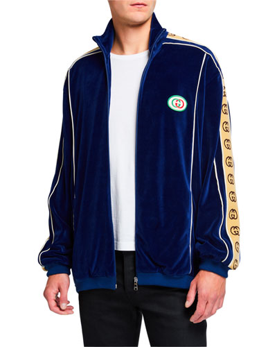 Men's GG Stripe Chenille Track Jacket