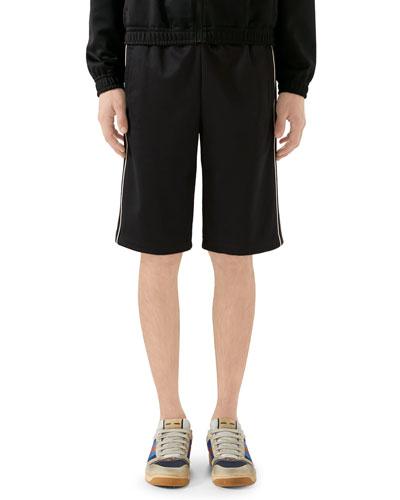 Men's Track Shorts w/ Contrast Side Stripes
