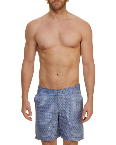 ab86fff0b Quick Look. Jachs NY · Men's Medallions Graphic-Pattern Swim Trunks