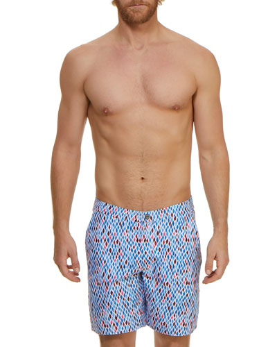 2f8a9acda23ce Quick Look. Jachs NY · Men's Mosaic Graphic-Pattern Swim Trunks