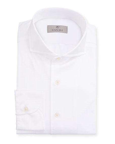 Canali Men's Solid Sport Shirt