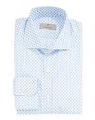 Canali Men's 2-Ply Medallion Dress Shirt