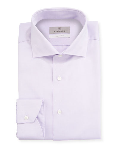 Men's Impeccabile 2-Ply Cotton Dobby Dress Shirt