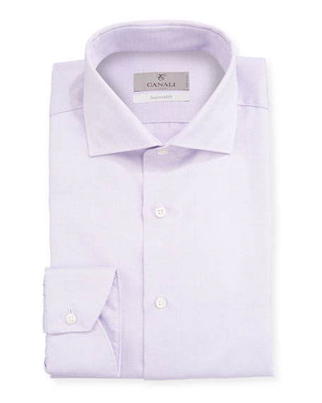 Canali Men's Impeccabile 2-Ply Cotton Dobby Dress Shirt