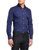 Canali Men's Impeccabile Paisley 2-Ply Cotton Sport Shirt