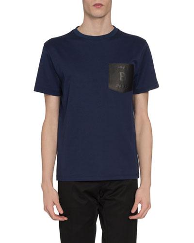 Men's Leather-Pocket T-Shirt