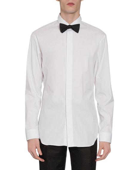 Berluti Men's Covered-Placket Sport Shirt